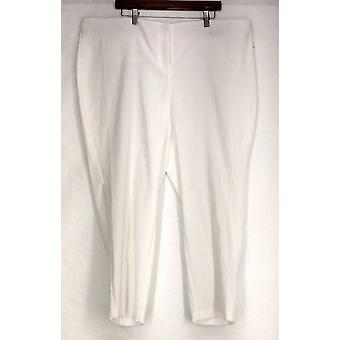 Alfani Plus Pants Jacquard Woven Python Embroidery White Womens