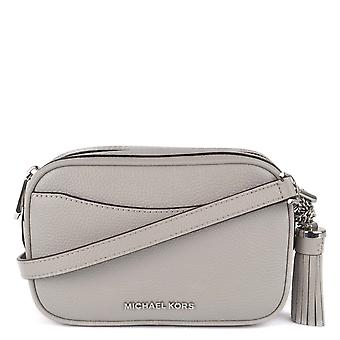 MICHAEL by Michael Kors Pearl Grey Pebbled Leather Camera Bag