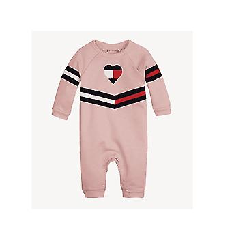 Tommy Hilfiger Girls Pink Footless Body Suit