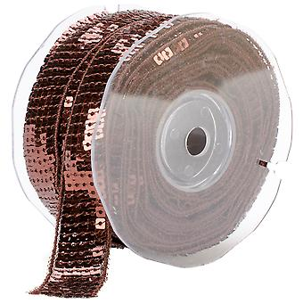 Square Sequin Trim 22Mm X 15.95 Yards Brown 9801 22 56