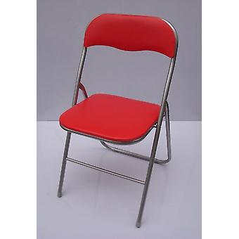 Kit Closet 15024 Red Tube Folding Chair