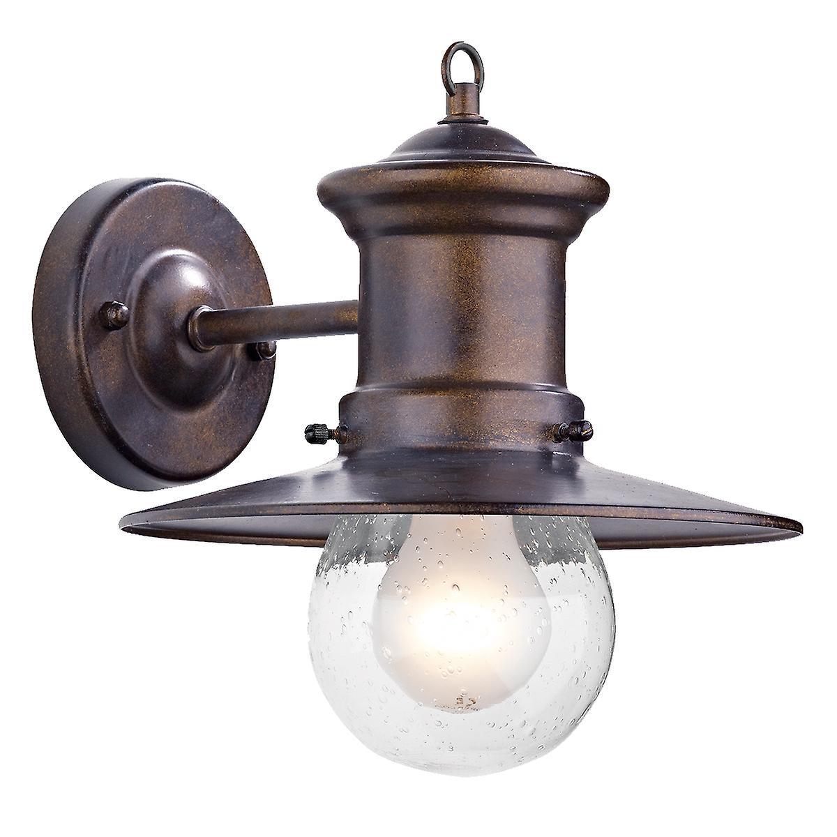 Dar SED1529 Sedgewick Single Light Lantern Bronze Down Facing Ip44