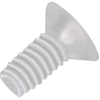 Raised head countersunk screws M2.5 20 mm Phillips DIN 966 PVC, Polyamide 10 pc(s) TOOLCRAFT 839986