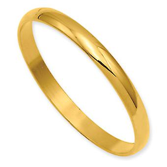 Gold-plated Polished Baby Slip-on Bangle Bracelet - .2 Grams