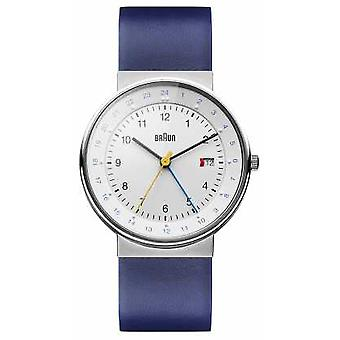 Braun Unisex Classic Dual Time BN0142WHBLG Watch