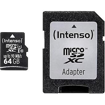 microSDXC card 64 GB Intenso Professional Class 10, UHS-I incl. SD adapter