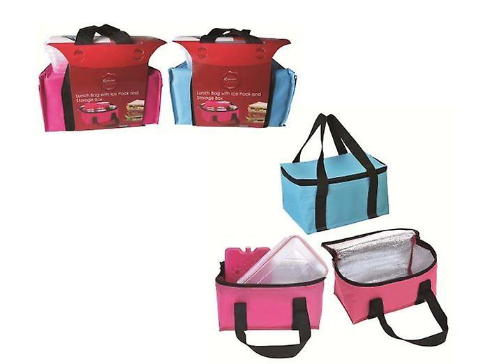 Insulated Lunch Bag With Ice Pack And Storage Box Camping Picnic Travel