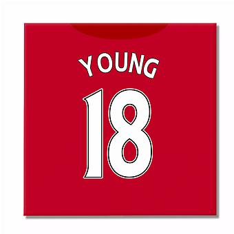 2016-2017 Man United Canvas Print (Young 18)