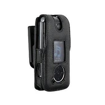 Infinity Padded Lambskin Case w/ Ratcheting Swivel Belt Clip for LG LX570 (Black
