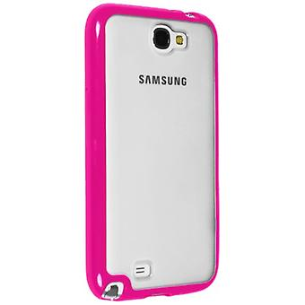 Sprint for klare Hybrigel case for Samsung Galaxy Note II (klar / Pink)