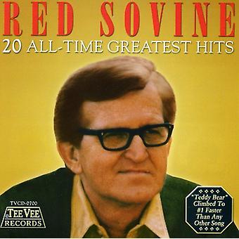 Rød Sovine - 20 All-Time Greatest Hits CD] USA importerer