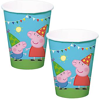 Peppa Wutz Cup 8 St. original birthday decoration Peppa Pig party Cup