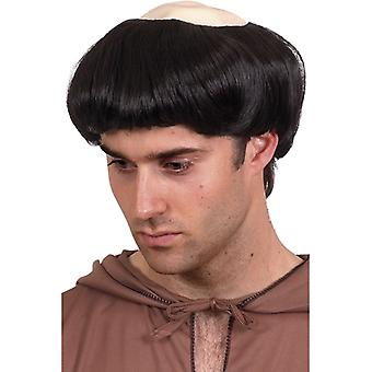 Monk wig half bald monk wig priest