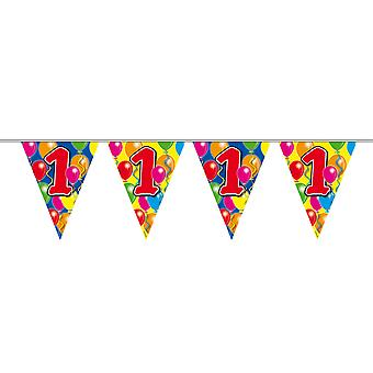 Pennant chain 10 m number 1 birthday decoration party Garland