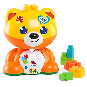 Molto Teddy + 15 Blocks (Toys , Preschool , Constructions)