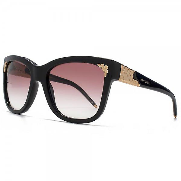 Bvlgari Serpenti Detail Sunglasses In Black Violet Gradient