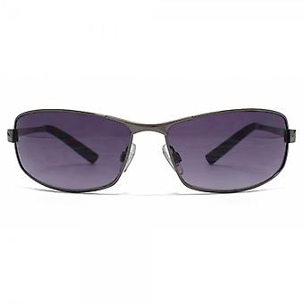 FCUK Metal Wrap Sunglasses In Dark Gunmetal