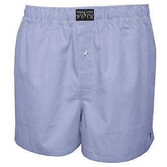 Polo Ralph Lauren Mini Gingham Woven Boxer Shorts, Light Blue