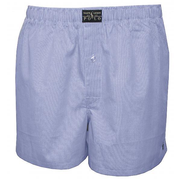Polo Ralph Lauren Mini Gingham vevd underbukser, lyseblå