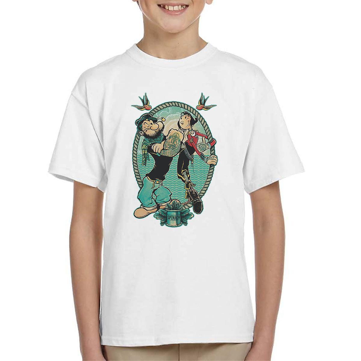 Popeye mich und meine Frau Kinder T-Shirt | Fruugo  Popeye mich und...