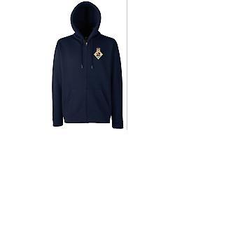 HMS Sultan bordado logotipo - oficial da Marinha Real Britânica em formato zip Hoodie casaco