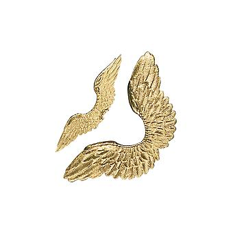 SALE - Gold Card One Piece Christmas Angel Wings for Crafts - Pack of 4
