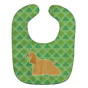 Carolines Treasures  BB6391BIB Cocker Spaniel Shamrocks  Baby Bib