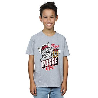 Tom And Jerry Boys Posse Cat T-Shirt