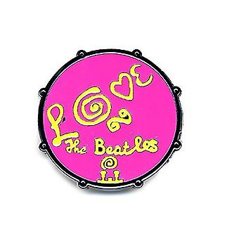 The Beatles Drum Love Logo Pink new Official Metal Pin badge