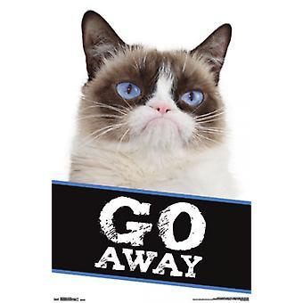 Grumpy Cat - Go Away Poster Poster Print