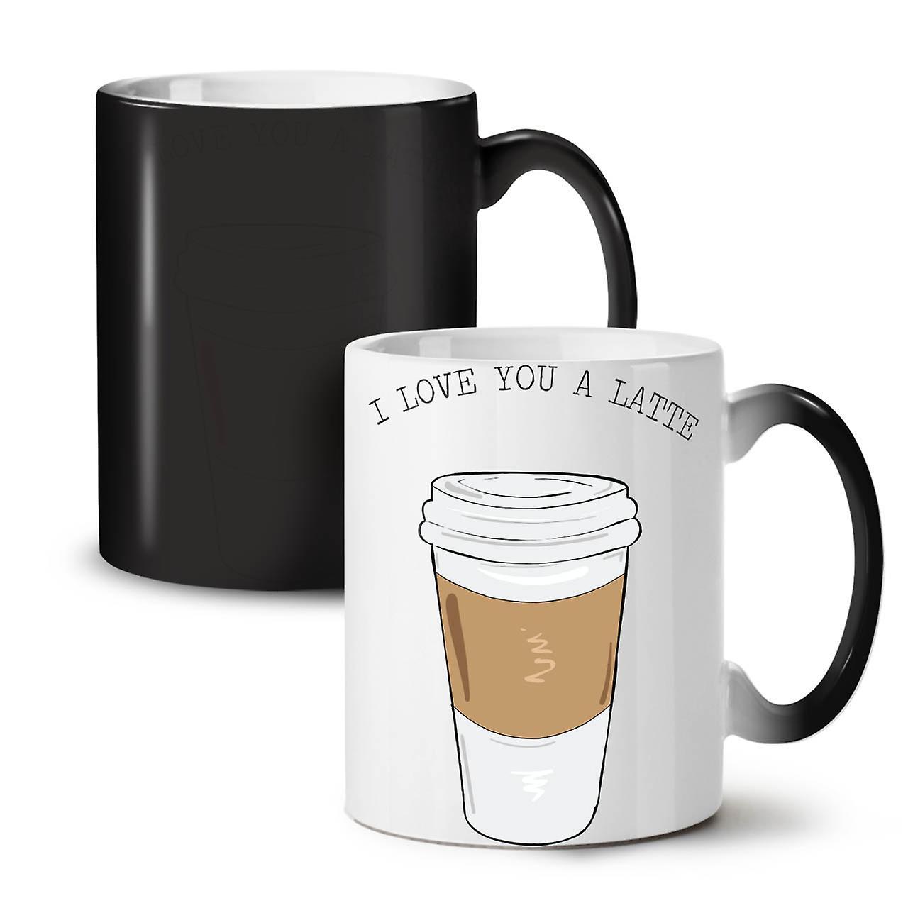 Café OzWellcoda Thé Couleur Tasse Céramique Nouvelle Changeant T'aime Noire Latte Fashion Je 11 W9IEH2DY