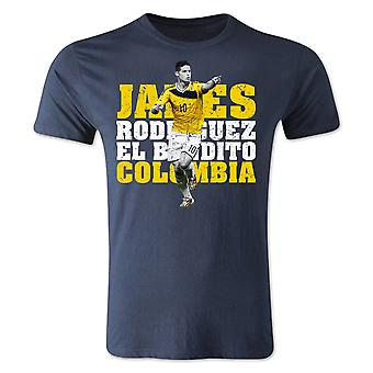 James Rodriguez Colombia Player T-Shirt (Navy)
