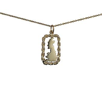 9ct Gold 19x11mm solid Penguin Pendant with a cable Chain 16 inches Only Suitable for Children
