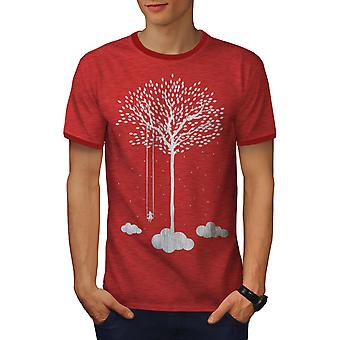 Tree Cloud Space Nature Men Heather Red / RedRinger T-shirt | Wellcoda