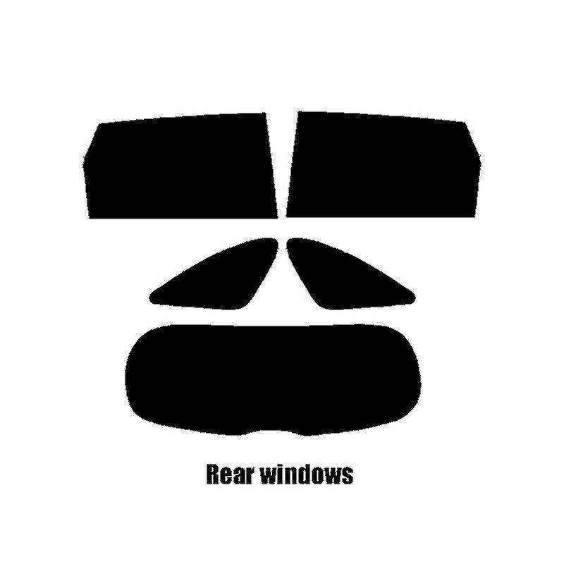 Pre cut window tint - Kia Sorento - 2016 and newer - Rear windows