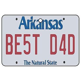 Arkansas - Best Dad License Plate Car Air Freshener