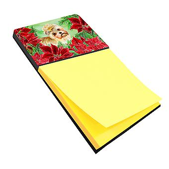 Carolines Treasures  CK1316SN Morkie Poinsettas Sticky Note Holder