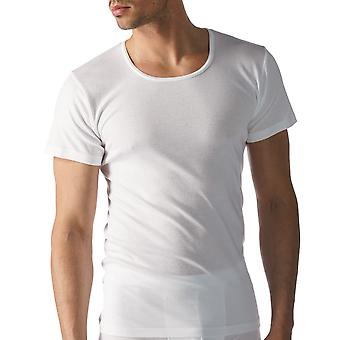 Mey 49102-101 Men's Casual Cotton White Solid Colour Short Sleeve Top