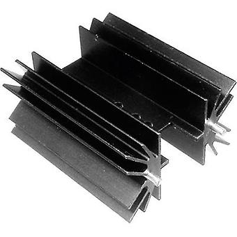 Fin heat sink 4 C/W (L x W x H) 50.8 x 41.6 x 25 mm TO 220, TOP 3, SOT 32