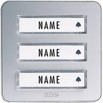 Bell panel with nameplate 3x m-e modern-electronics KTA-3 A/S