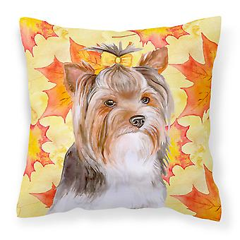 Yorkshire Terrier #2 Fall Fabric Decorative Pillow