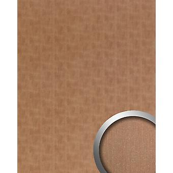 Wall Panel metal optics WallFace 20199 SLIGHTLY USED copper AR wall smooth in the used look brushed adhesive abrasion resistant copper Brown-grey 2.6 m2