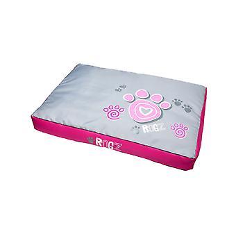 Rogz Flat Pod Pink Paws Large
