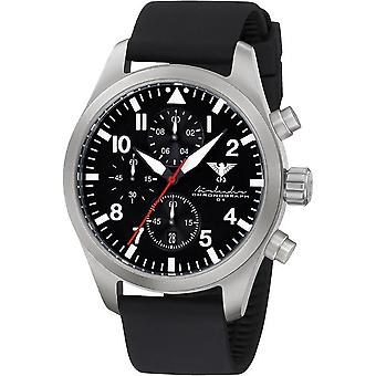 KHS mens watch Airleader Steel Chronograph KHS. AIRSC. SB