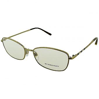 Burberry Burberry Ladies Gold And Tartan Stainless Steel Glasses