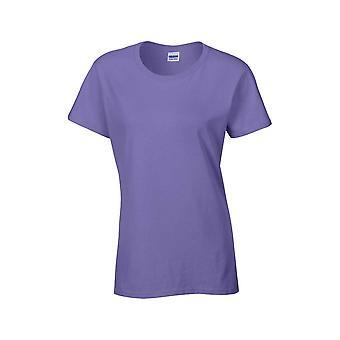 Gildan Womens tunga Pre krympt Jersey sticka bomull T Shirt