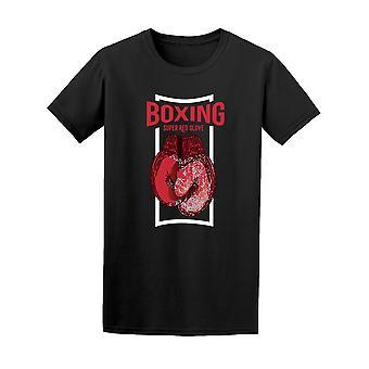 ボクシングのスーパー赤グローブ t シャツ メンズ-シャッターによる画像