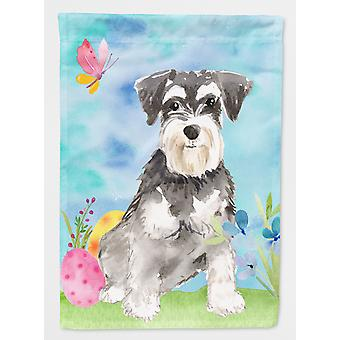 Carolines Treasures  CK1907CHF Easter Eggs Schnauzer #2 Flag Canvas House Size