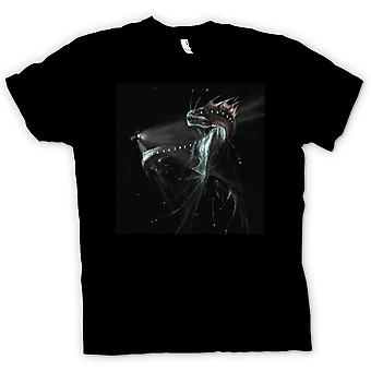 Mens t-shirt-Deep Sea Serpent abisso donne