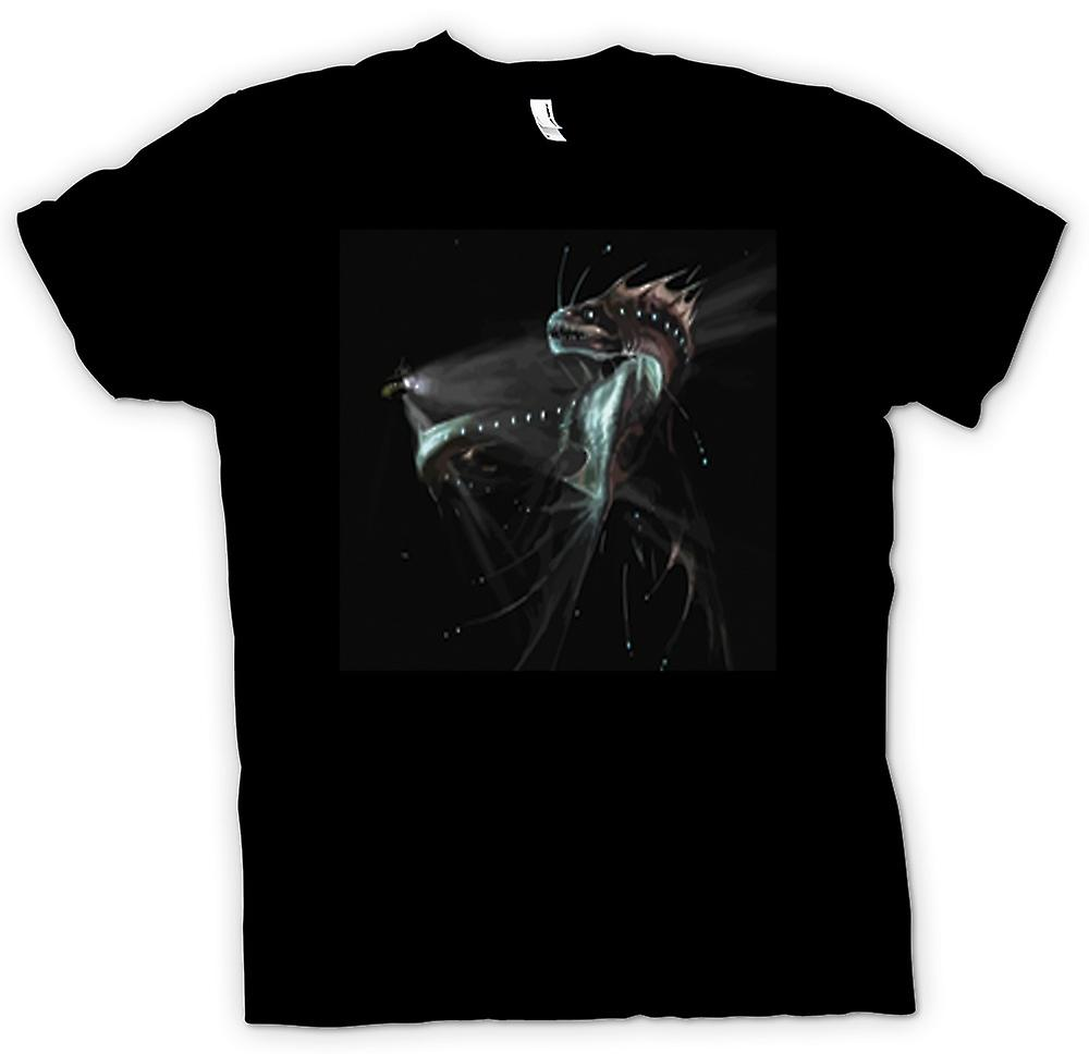 Mens T-shirt-Deep Sea Serpent Abyss femme
